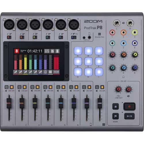 Zoom PodTrak P8 Podcast Studio recorder
