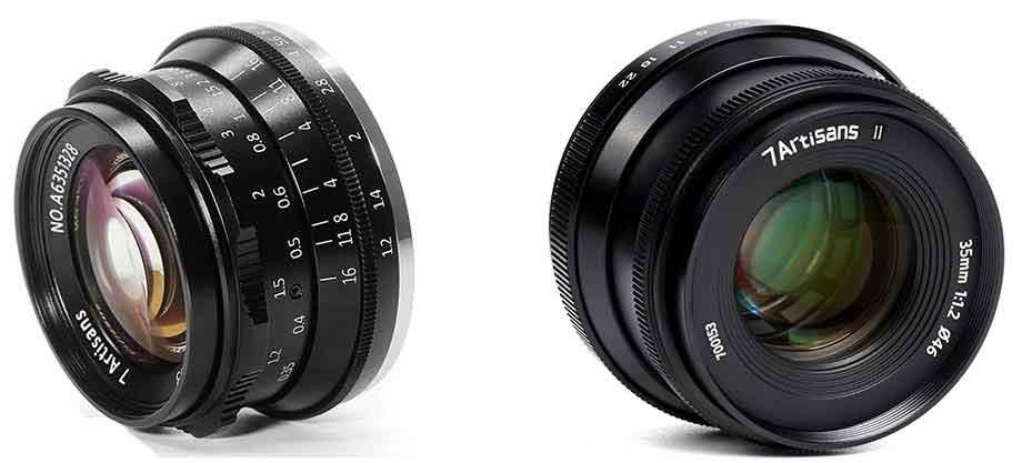 7Artisans 35mm f1.2 Mark II Lens for Sony, Canon, Fujifilm, Nikon and MFT