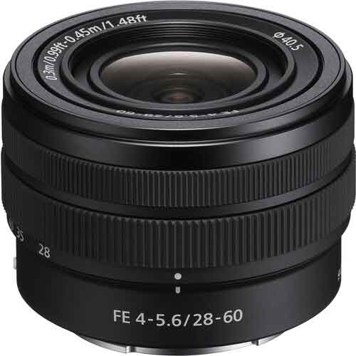 Sony FE 28-60mm F4-5.6 wide angle lens