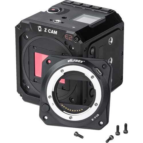 Viltrox E-T10 Sony E mount lenses to Z CAM E2