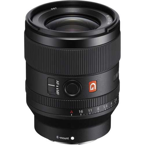 Sony FE 35mm f1.4 GM wide angle lens
