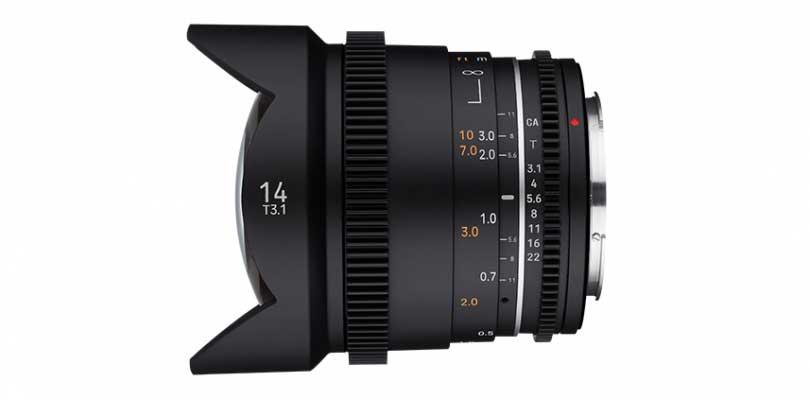 Samyang MF 14mm T3.1 VDSLR MK2 wide angle video lens