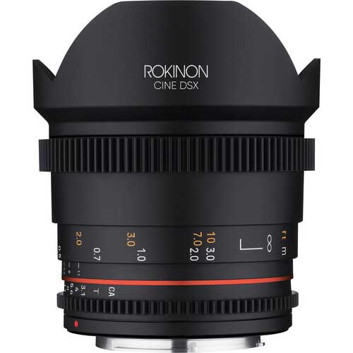 Rokinon 14mm T3.1 DSX wide angle cine lens