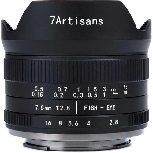7artisans 7.5mm F2.8 Mark II Fisheye Lens for Sony E, Fuji X, MFT, Canon M, and Nikon Z