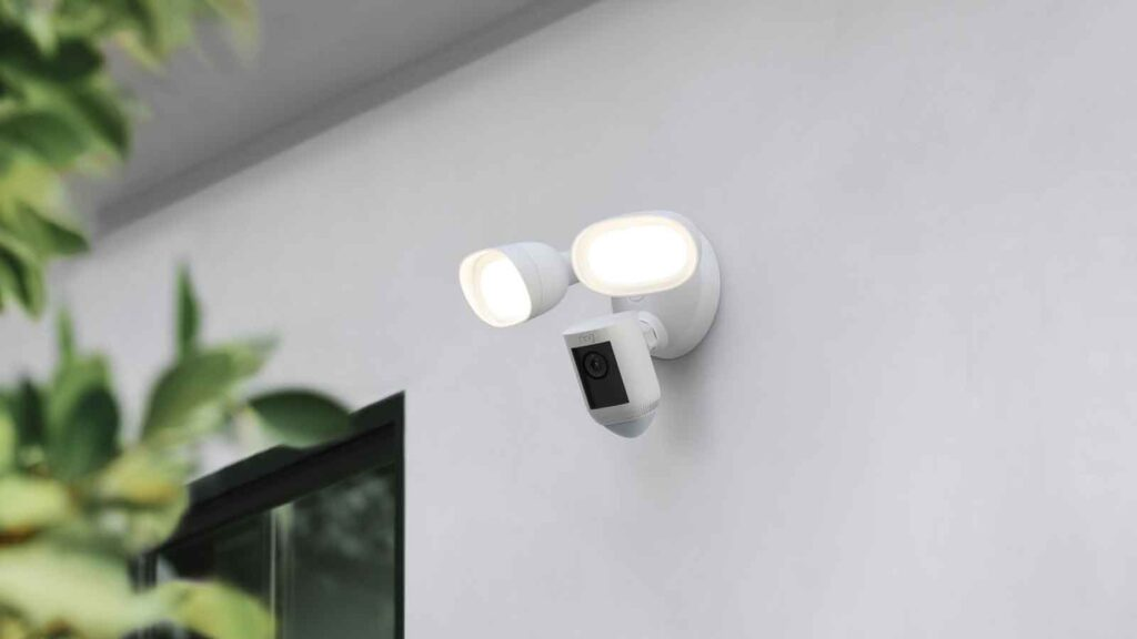 Smart Home Security: Video Doorbell 4 and Floodlight Cam Wired Pro from Ring