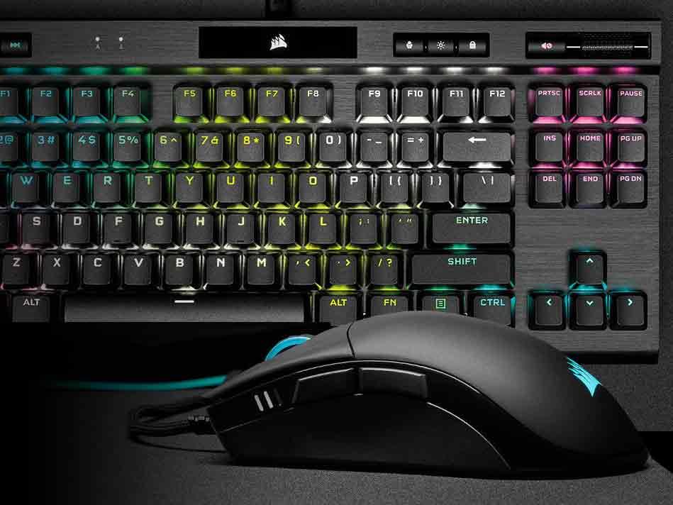 Corsair K70 RGB TKL Mechanical Gaming Keyboard and Saber RGB Pro Gaming Mice