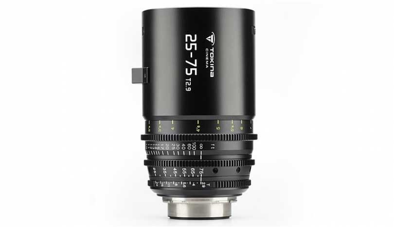 Tokina 25-75mm T2.9 Cinema Zoom lens