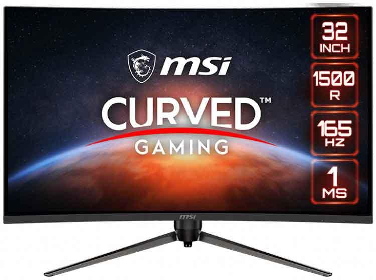 MSI Optix AG321CR curved screen monitor