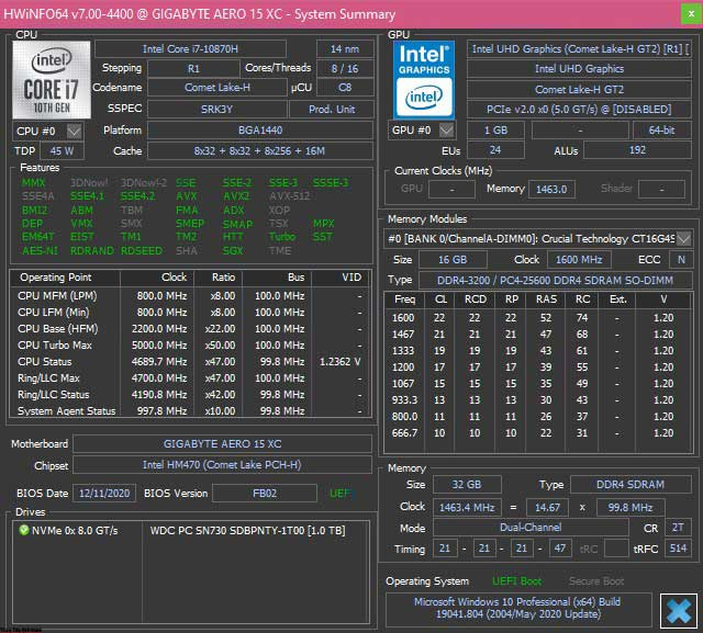 Gigabyte Aero 15 OLED XC Review